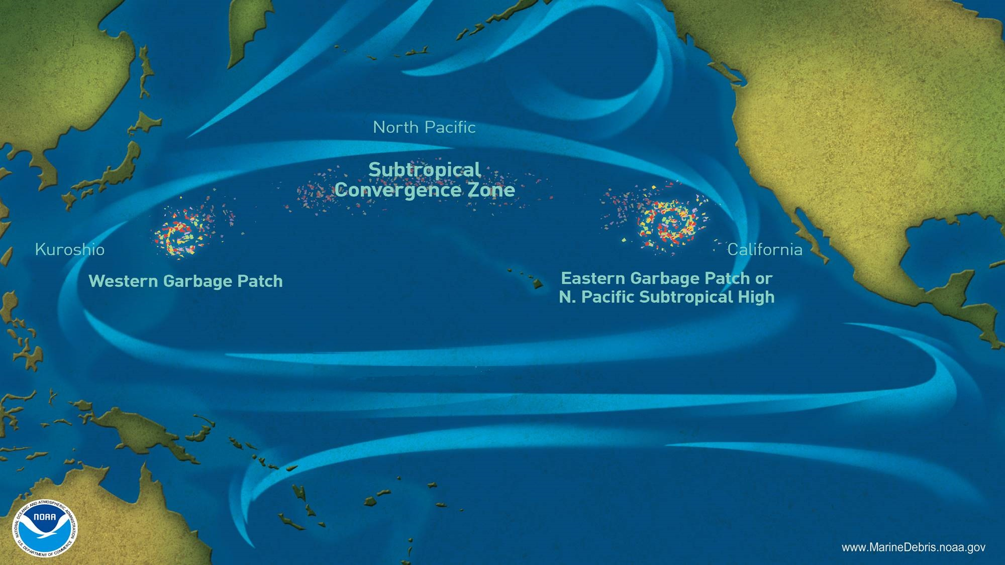 Pacific Gyre Map